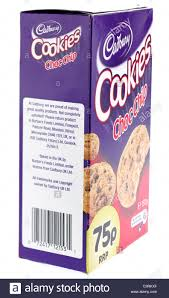 cookie gram 150 gram box of cadbury choc chip cookies stock photo 36785239