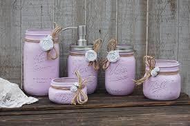 Lavender Bathroom Accessories by Lavender Mason Jar Bathroom Set U2013 The Vintage Artistry