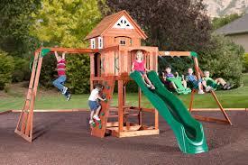 backyard playground sets wooden swing adventures winnebago county