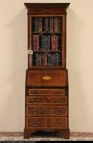 tall secretary desk with hutch narrow secretary desk open travel