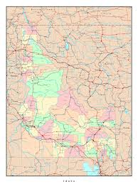 United States Maps With Cities by Large Administrative Map Of Idaho State With Roads Highways And
