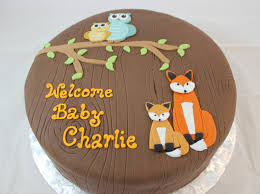 baby boy shower cake ideas woodland themed baby shower cake with handmade fondant foxes and
