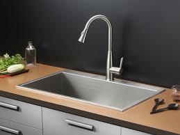 Overmount Kitchen Sinks Ruvati Rvh8000 Tirana Overmount 16 33 Inch Stainless S