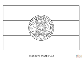 missouri state flag coloring page free printable coloring pages