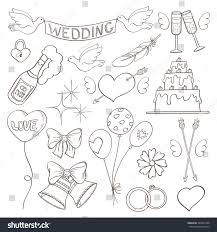 on wedding elements vector stock vector 340031468