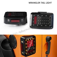 jeep wrangler backup lights pair 6in led tail turn signal light for 07 16 jeep wrangler jk 4x4