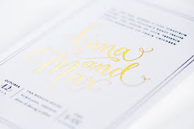 wedding invitations gold foil max s gold foil wedding invitations