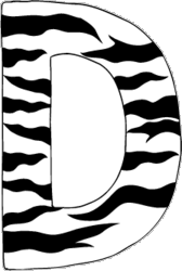 zebra print wall decals letters a z