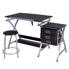 Computer Drafting Table Zeny Black Drafting Table Craft Drawing Desk Hobby Table