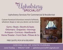 Upholstery Tampa Fl Assis Upholstery Loxahatchee Fl 33470 Homeadvisor