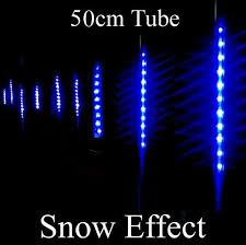 20x50cm length blue snow effect sides 11 4m 600led