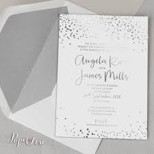 and white wedding invitations amazing beautiful gold foil confetti wedding invitation