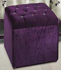 violet cottage u2022 u2022 rhinestone button tufted ottoman violet