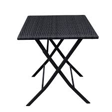 joveco folding table and chair 3 piece rattan wicker outdoor