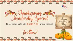 thanksgiving membership special amcham