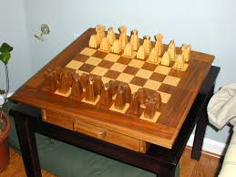 handmade chess set and board by the plane edge llc custommade com