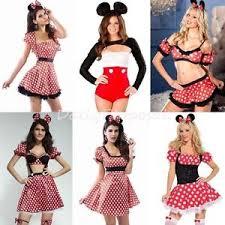 Minnie Mouse Womens Halloween Costume Mickey U0026 Minnie Mouse Dress Bodysuit Women Halloween