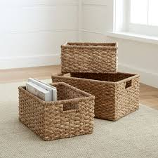 Bathroom Storage Baskets by Baskets Wicker Wire Woven And Rattan Crate And Barrel