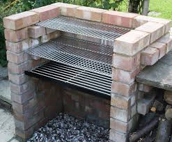 charcoal diy brick bbq kit with 6mm stainless grill u0026 warming