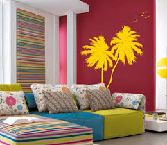 palm coconut tree wall decal with seagull birds 2 trees 1133