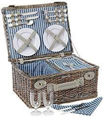 picnic basket set for 4 yellowstone 4 person wicker picnic basket with cooler