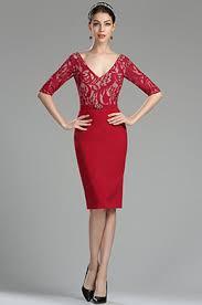 a linie v ausschnitt knielang spitze brautjungfernkleid p597 shoppen damen kleider für ballparty und hochzeti edressit
