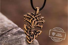 handmade pendant necklace images Yggdrasil world tree bronze pendant handmade viking jewelry jpg