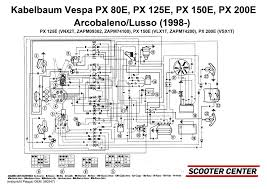 wiring loom piaggio vespa px efl elestart 1998 with battery