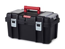 craftsman 19 inch tool box with tray black red
