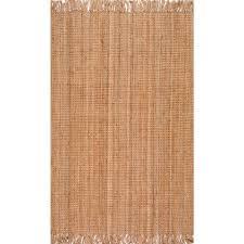 loop rugs nuloom chunky loop jute beige 7 ft 6 in x 9 ft 6 in area rug