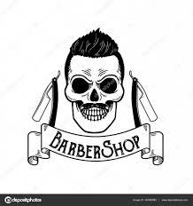 vector barbershop emblem barbershop logo or badge for barber shop