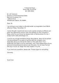 samples of resignation letters sample resignation letter format