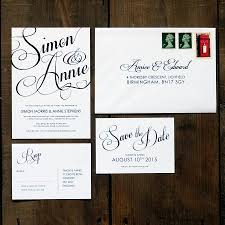 wedding invitation set classic script wedding invitation set by feel wedding