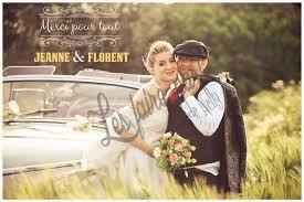 faire part de remerciement mariage cartes de remerciements mariage retro chic cartes postales