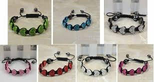 macrame beads bracelet images Bracelet macrame heart beads disco pave crystal friendship jpg