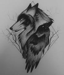 forearm wolf tattoos wolf and raven ravens wolf and behance