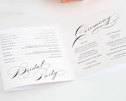 Wedding Programs Trifold Wedding Programs Picmia