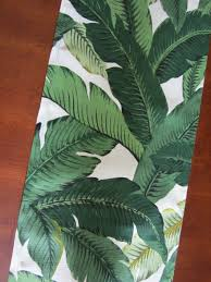 Leaf Table Runner Turn Your Table Into A Tropical Paradise With Green Palm Leaves