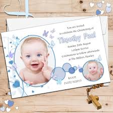 10 personalised boys butterfly christening baptism photo