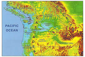 Oregon Topographic Map by Charlie U0027s Weather Forecasts February 2016
