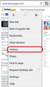 clear history android chrome for android clear cache history cookies