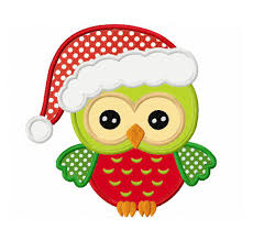 owl christmas christmas owl applique machine embroidery design no 0101