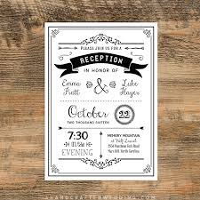 wedding reception invitation templates black diy reception only invitation ahandcraftedwedding wedding