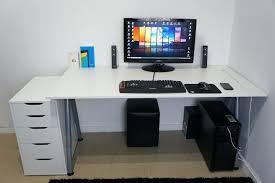 Pc Desk Setup The Ultimate Computer Desk The Ultimate White Desk Setup