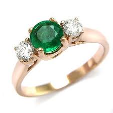 gold emerald engagement rings anzor jewelry 14k gold genuine emerald