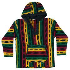 baja sweater rasta and reggae allover hooded poncho rastaempire com