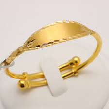 Baby Name Bracelets Gold 22 Carat Gold Name Plate Baby Bangle 9 6 Grams Gold Forever