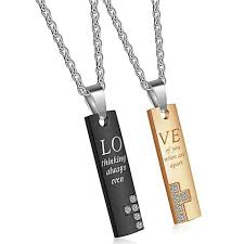 Engraved Necklaces For Couples Couple Necklaces U2013 Evermarker