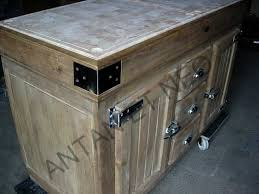 cuisine en bouche de kercoet billot ilot bil08 portes frigo de boucher antan et neo