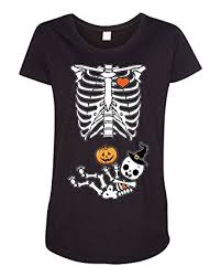 Pregnancy Halloween Costumes Skeleton Halloween Baby Skeleton Dt Costume Maternity Shirt Tee Amazon